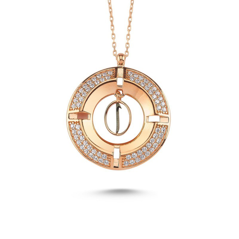 Madalyon Elif Gümüş Kolye