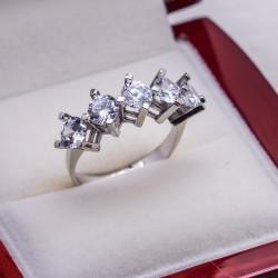 925 Ayar Gümüş Beştaş Bayan Yüzük Model 19