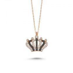 Kraliçe Tacı Rose Gümüş Kolye